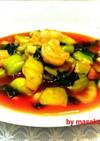 野菜たくさんチリエビ♥