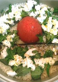 包丁いらず!丸ごとトマトの土鍋ご飯