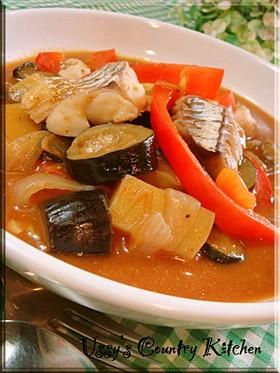 タラと野菜のトマトスープ煮込み