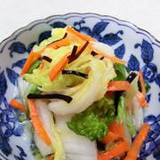 ご飯のお供に。白菜と塩こんぶ漬の写真