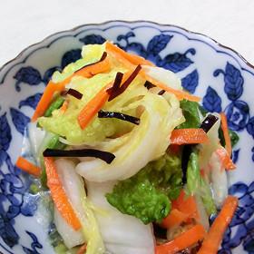 ご飯のお供に。白菜と塩こんぶ漬