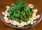 春菊と鶏ささみのサラダ