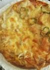 市販のピザ生地でハ−フ&ハ−フ