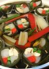 鶏ささみと根菜のまきまき昆布鍋