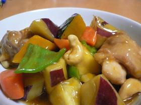 鶏とホクホク野菜の甘酢あんかけ