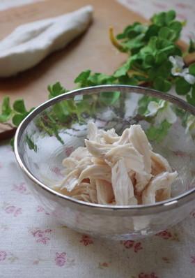 ふんわり柔らかい❤鶏ささみの茹で方
