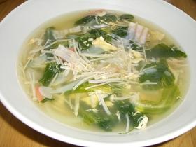 節約節約~♪ レタスの外葉deスープ