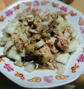 簡単★鮭缶と舞茸の混ぜつまみ♪
