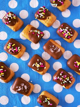 乾パンでお手軽&簡単デコ☆チョコ菓子