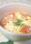 ガーリックトマトスープ&うどん
