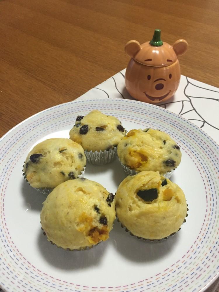 スプーン1本でできる!かぼちゃの蒸しパン