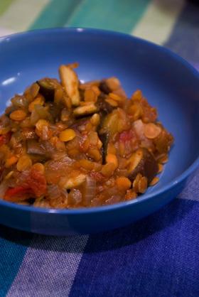 なす&レンズ豆のトマト煮込み☆
