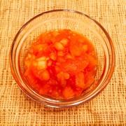 ピリ辛サルサトマトソースの写真
