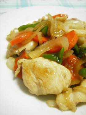 柔らか~♥♥鶏肉と野菜の甘辛炒め