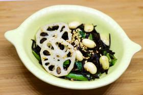 鉄分カルシウム豊富!ひじき小松菜豆サラダ