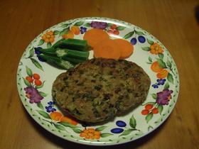 大豆とニラのヘルシーなハンバーグ
