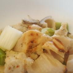 魚焼きグリルで鶏肉と根菜のグリル