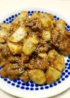 皮むき簡単♬里芋と豚肉のごま味噌炒め☆
