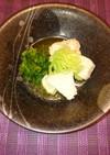 カメリナと日本酒で煮る鶏肉のオイル煮