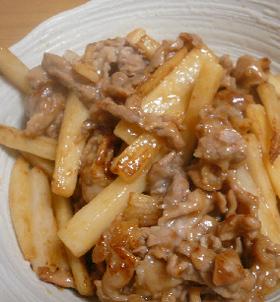 豚肉と山芋の中華炒め