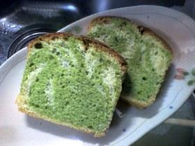 抹茶のマーブルパウンドケーキ