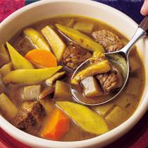 牛肉と根菜のカレースープ