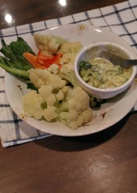 カリフラワーのサラダ☆ブロッコリーソース