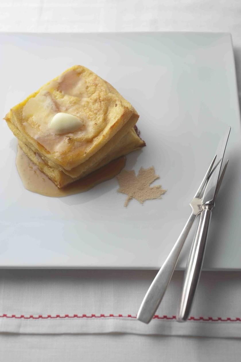 メープルシロップのフレンチトースト
