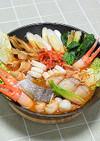 海の幸たっぷりキムチ鍋♪-ホシサンの素-