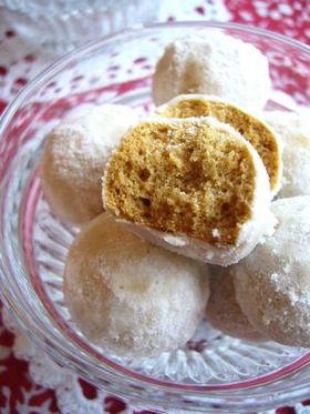 きな粉ときび糖のスノーボールクッキー