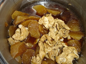 豚肉と大根の中華煮