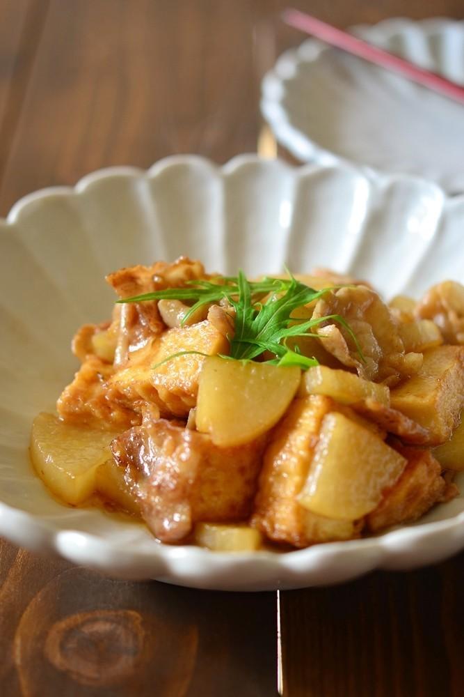 豚バラ大根と厚揚げの炒め煮【作り置き】