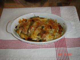カボチャとベーコンのチーズ焼き