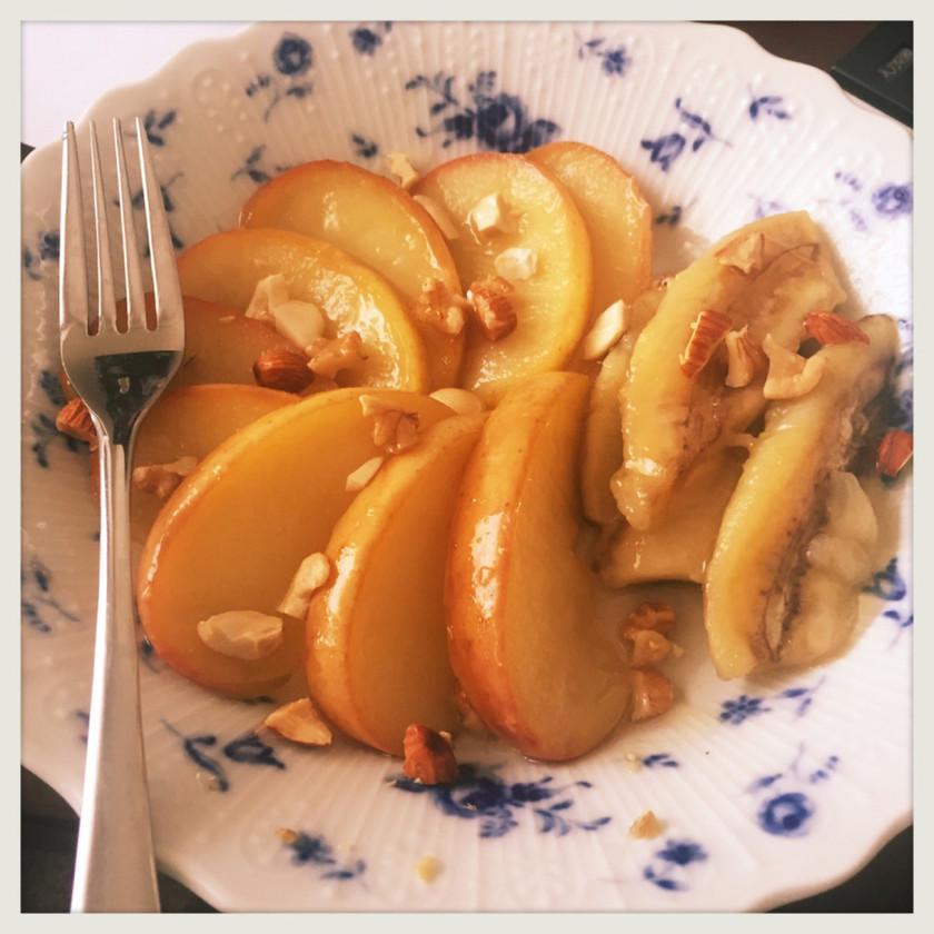 ココナッツオイルで焼きりんご&バナナ