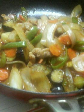 野菜炒め-甘酢あん-