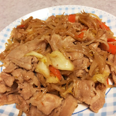 オイスターソース&ポン酢の豚バラ野菜炒め
