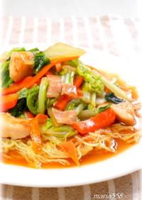★白菜と鶏むね肉のあんかけ焼きそば★