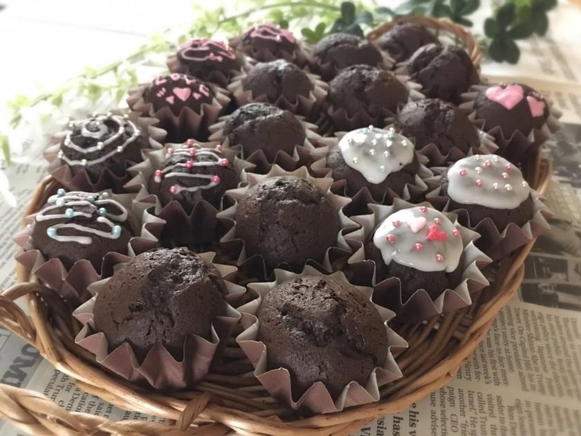 ミニカップケーキ♡バレンタイン大量生産♪