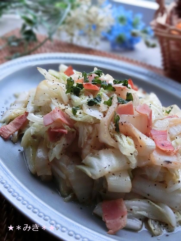 簡単★白菜とベーコンの炒めたん♪