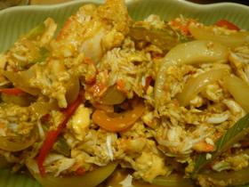 プーパッポンカレー(蟹のカレー炒め)