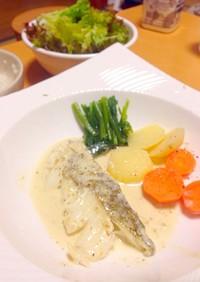 白身魚のポアレ★柚子胡椒ホワイトソース