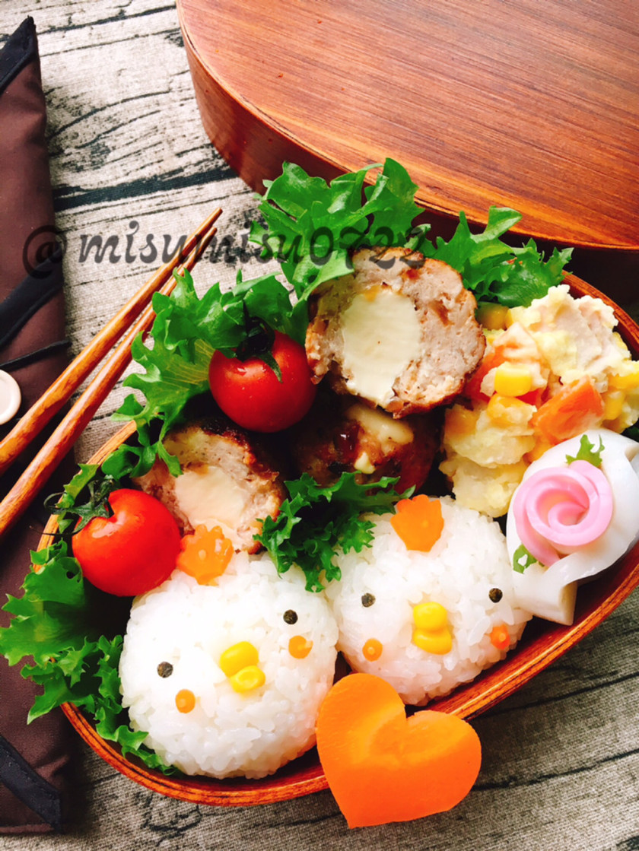 【キャラ弁】簡単☆鶏おにぎり弁当