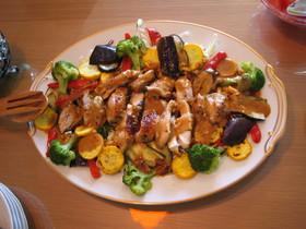 彩り野菜と鶏のマリネ焼き