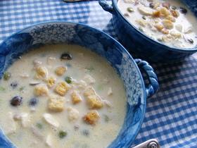 栄養たっぷり朝食に☆枝豆と豆乳のスープ