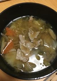 脂肪燃焼スープ 豚汁