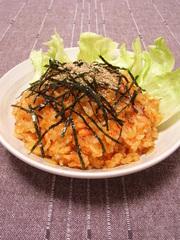鮭チャーハン 韓国風の写真