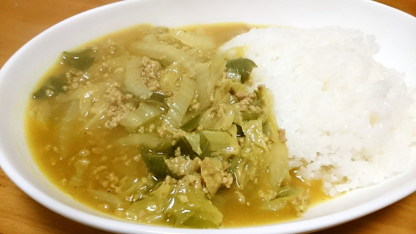 白菜と長ねぎの和風カレー♪