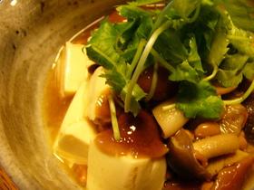 なめこ&納豆かけ豆腐
