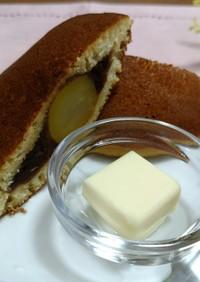 秘密のおやつ☆どら焼きに + バター