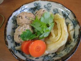 秋鮭だんごと野菜のにんにくみそ風味煮☆